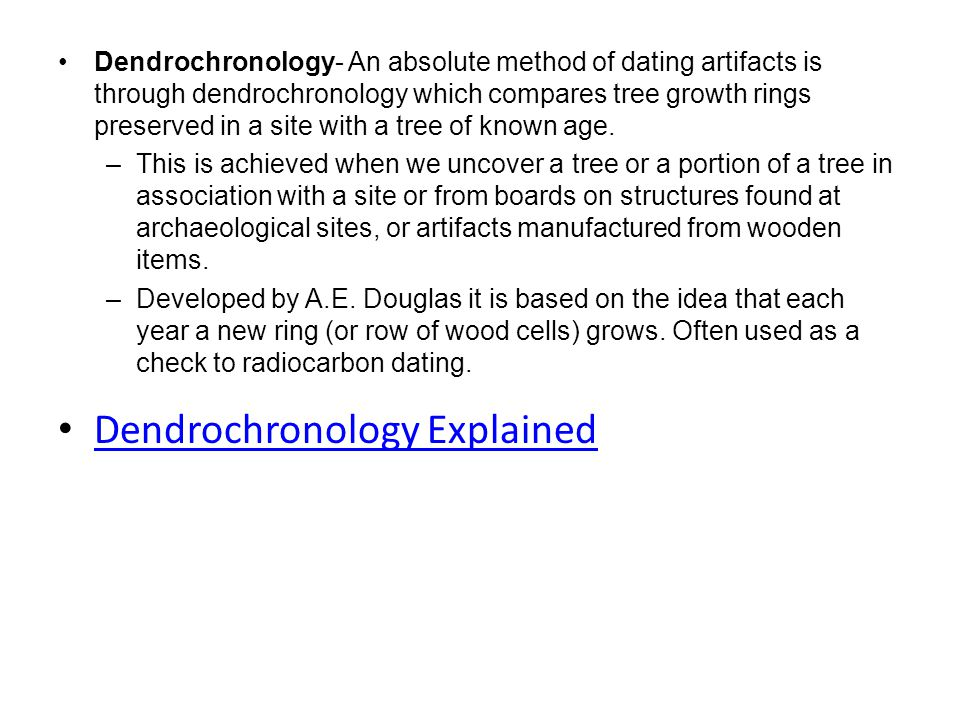 dendrochronological dating sites