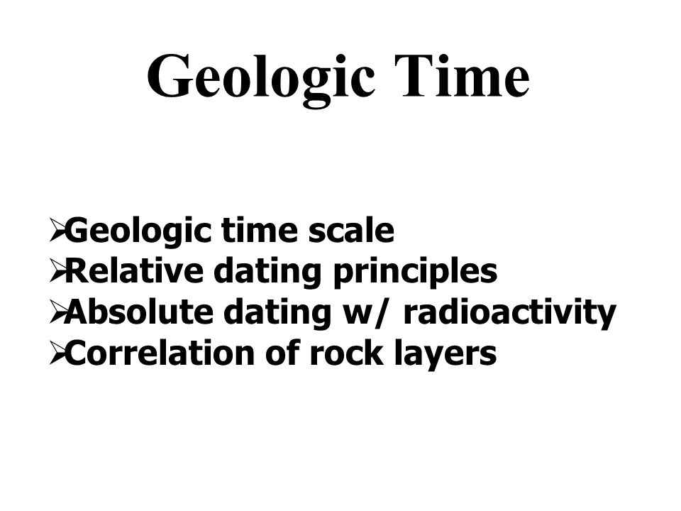 Absolute dating rock layers hub