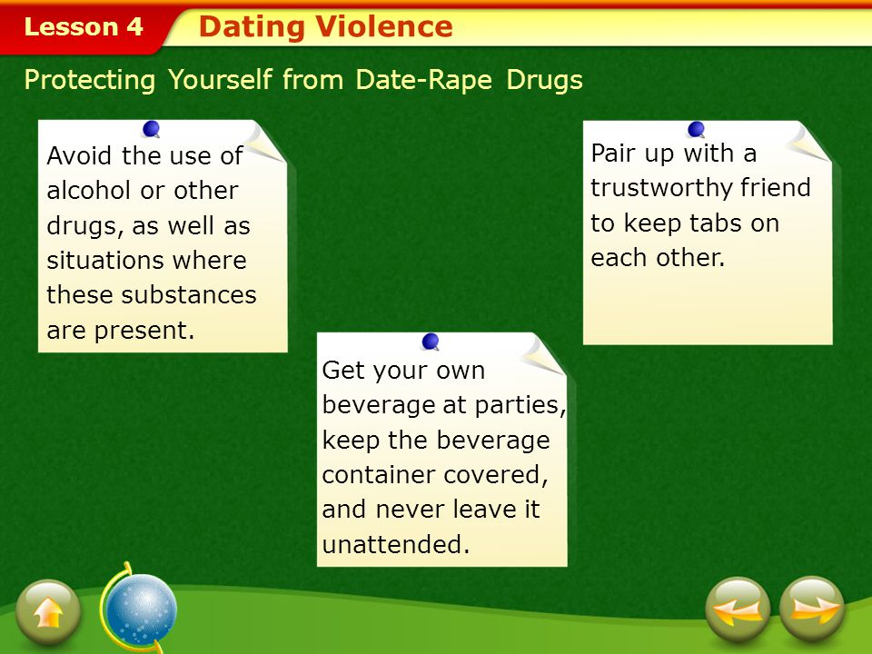Dating Violence Protecting Yourself from Date-Rape Drugs