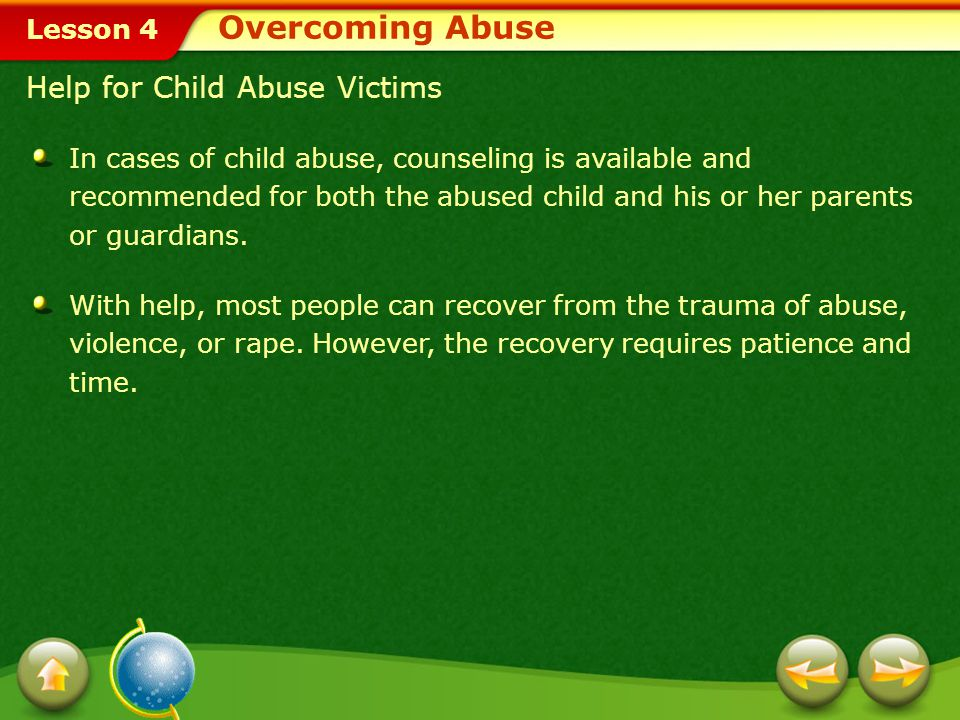 Overcoming Abuse Help for Child Abuse Victims