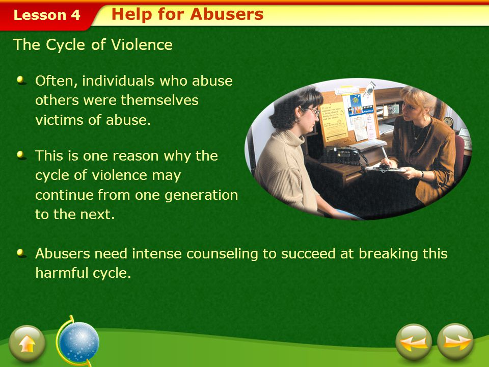 Help for Abusers The Cycle of Violence