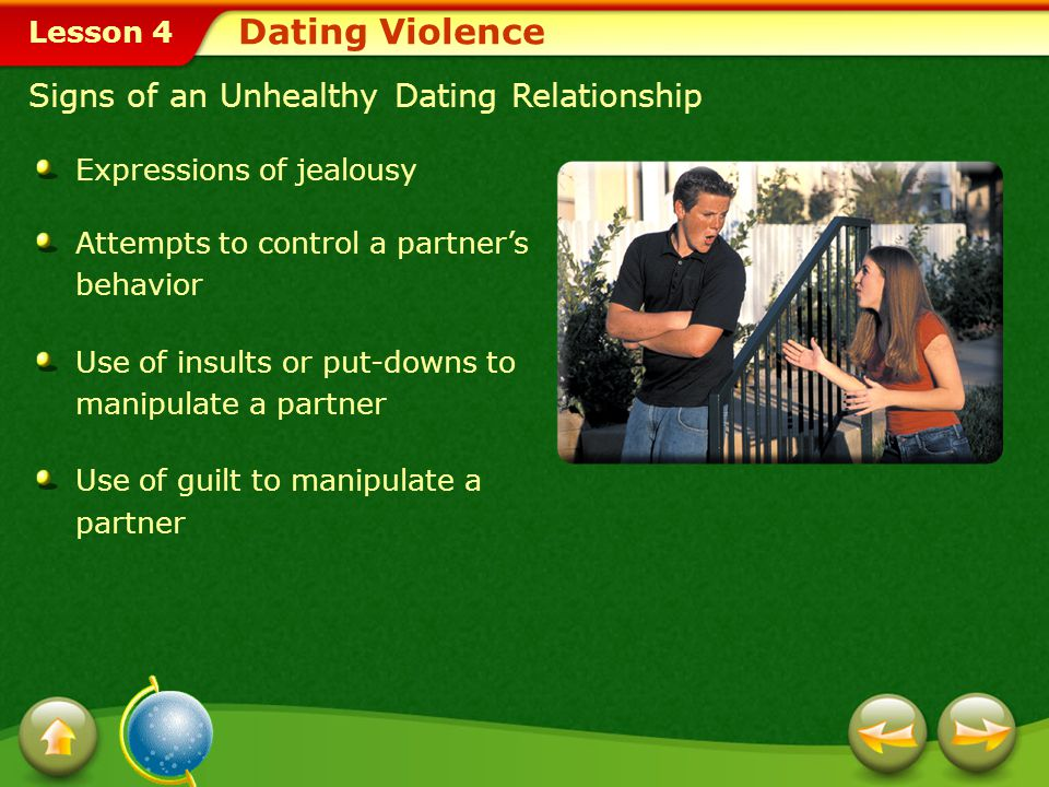 Dating Violence Signs of an Unhealthy Dating Relationship