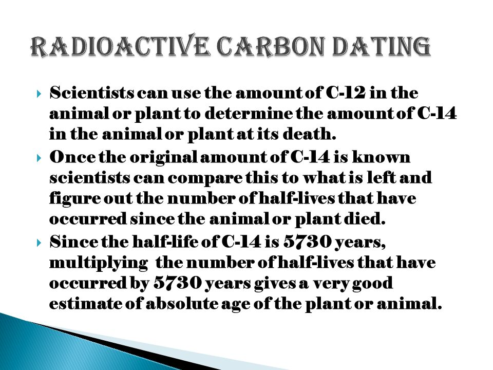 Radioactive Carbon Dating