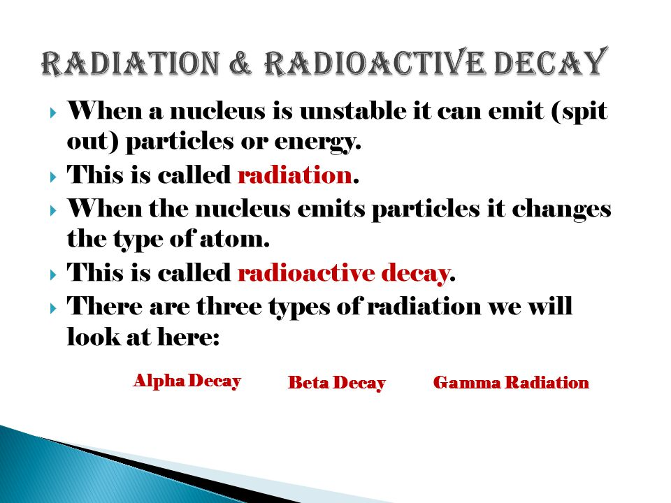 Radiation & Radioactive Decay