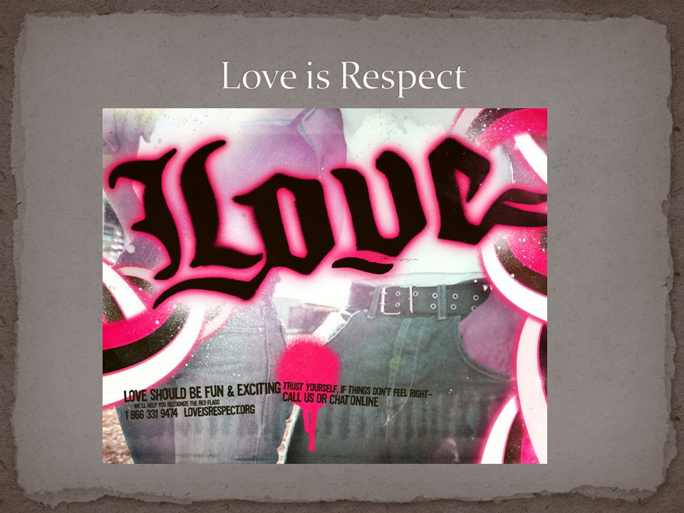 Love is Respect Hilda.