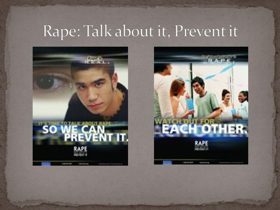 Rape: Talk about it, Prevent it