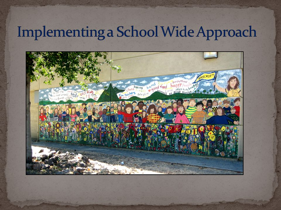 Implementing a School Wide Approach