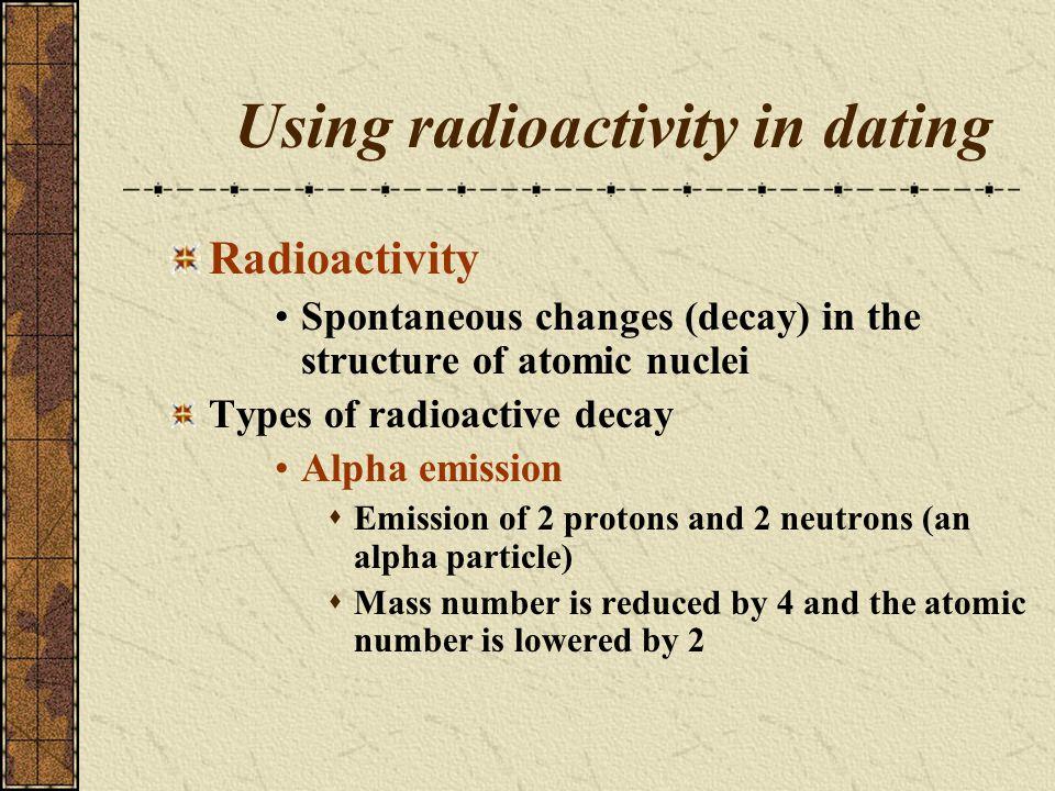Using radioactivity in dating