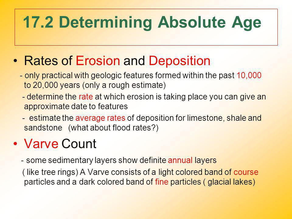 17.2 Determining Absolute Age