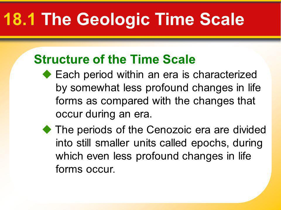 18.1 The Geologic Time Scale