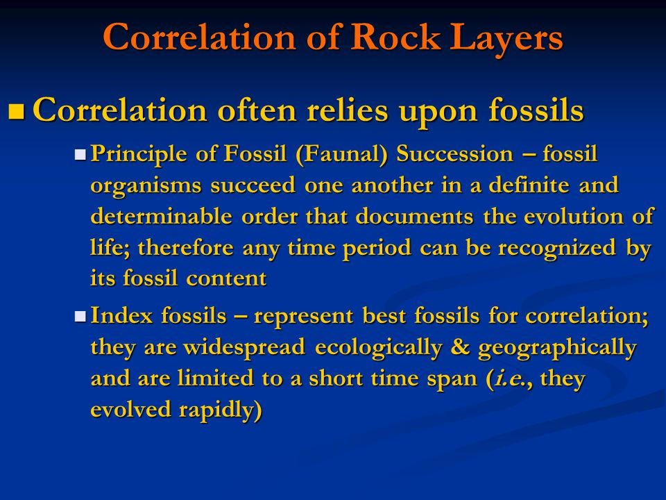 Correlation of Rock Layers
