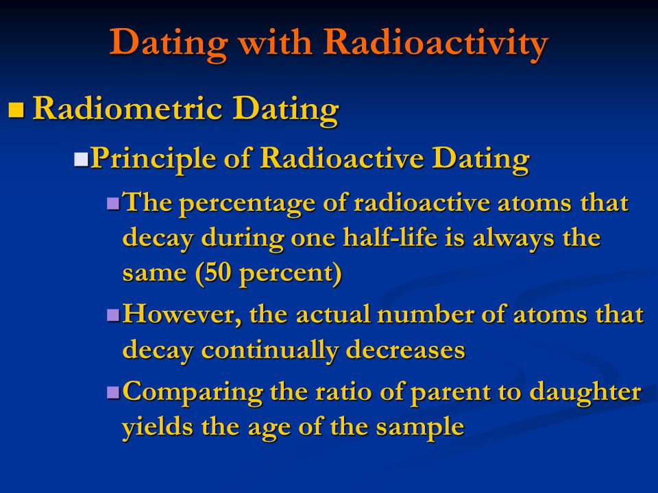 What is radioactive hookup of rock samples