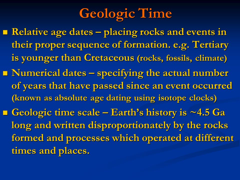 Dating of rocks fossils and geologic events chapter 8