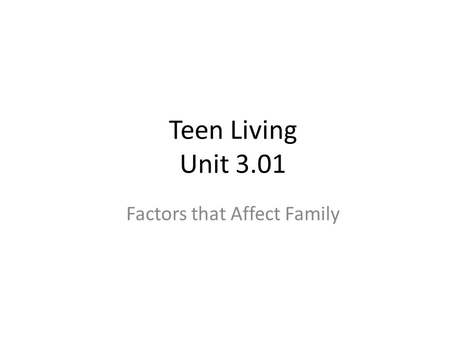 Factors that Affect Family