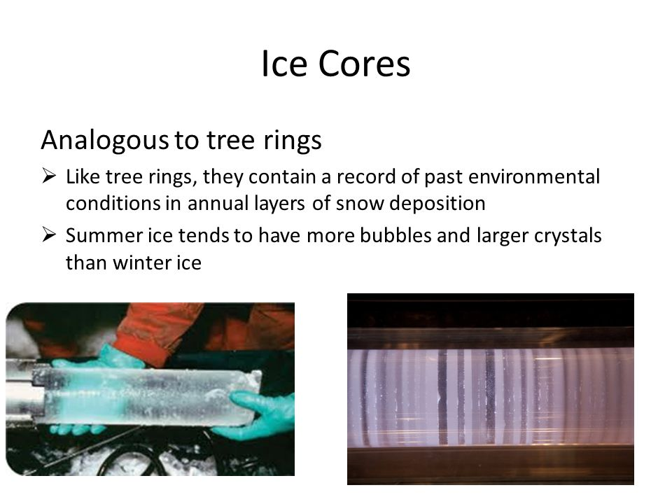Ice Cores Analogous to tree rings