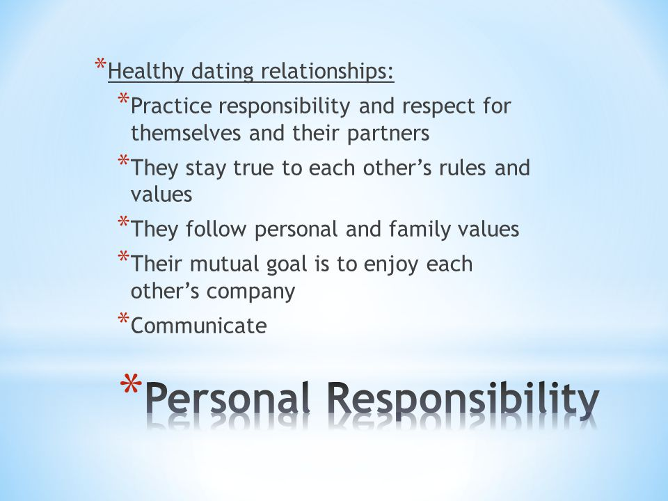 Personal Responsibility