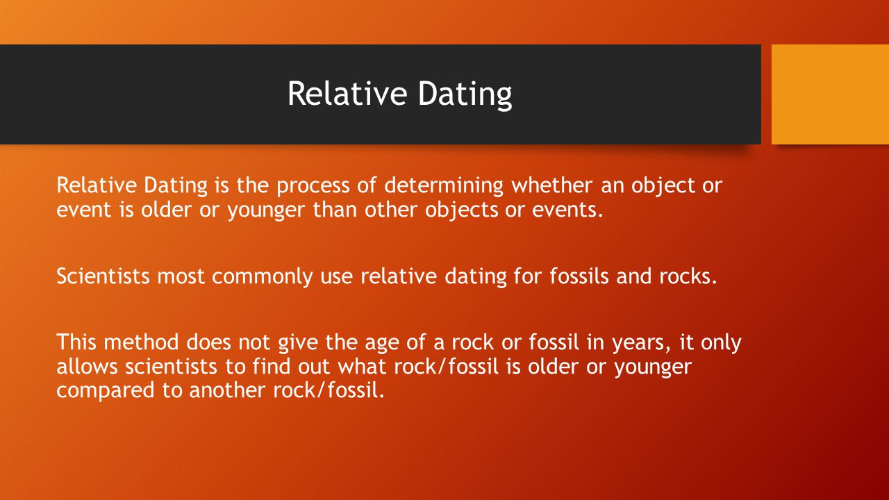 what does relative dating provide