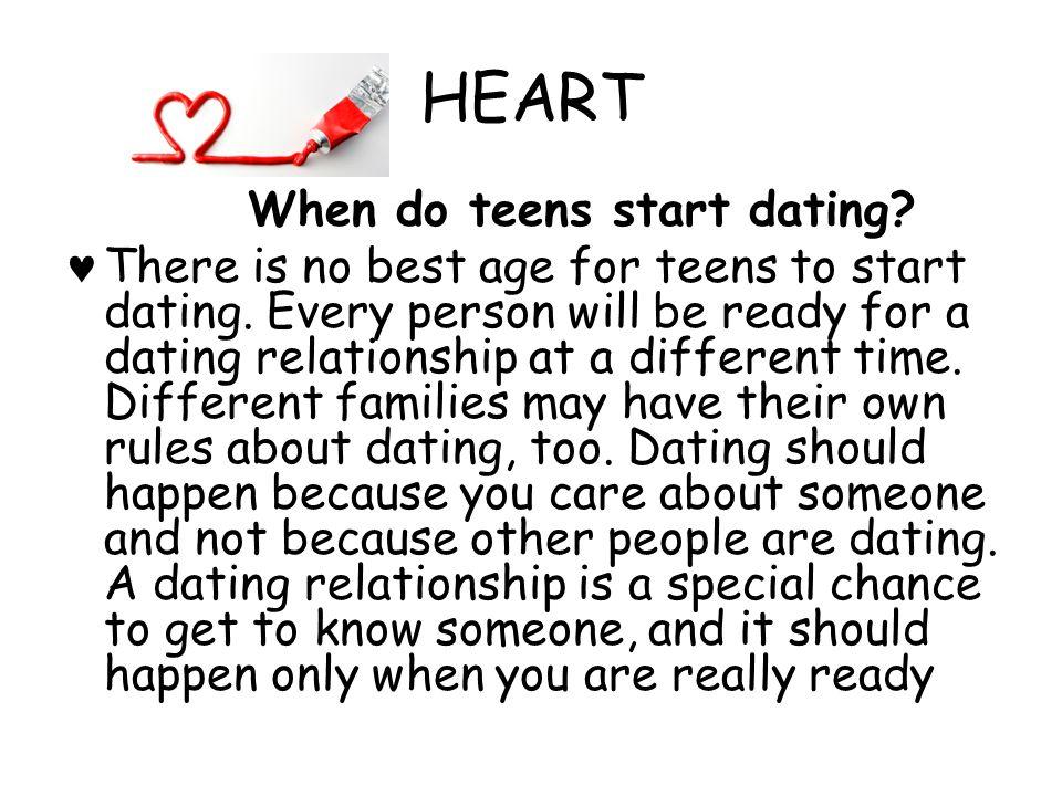 HEART When do teens start dating