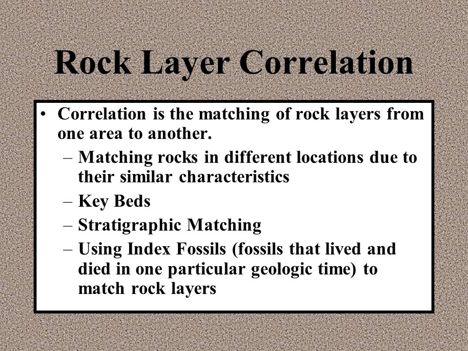 Rock Layer Correlation