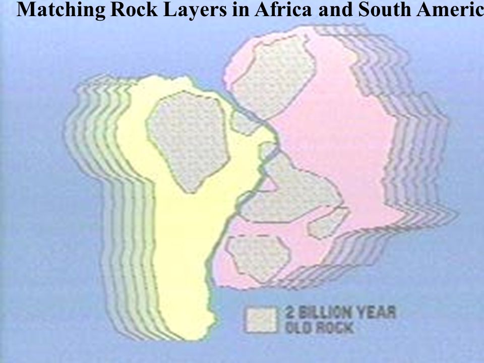 Matching Rock Layers in Africa and South America