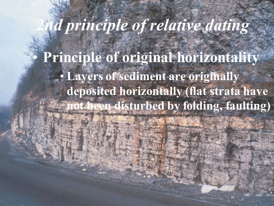2nd principle of relative dating