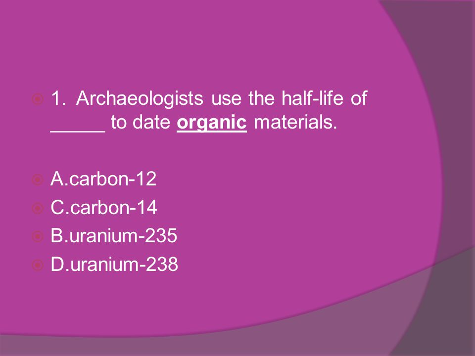 Dating organic materials