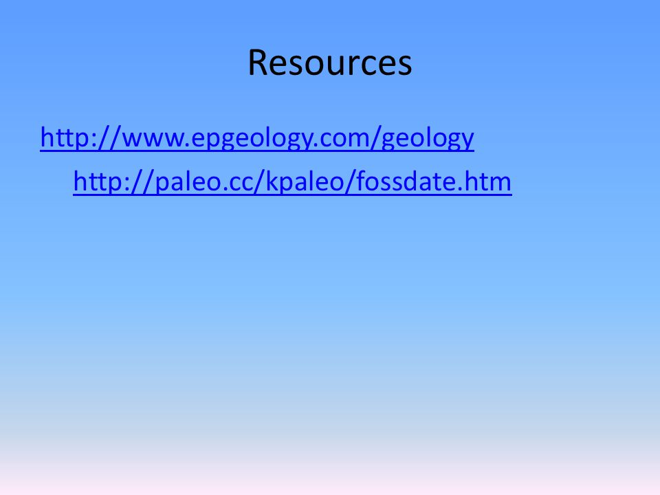 Resources http://www.epgeology.com/geology