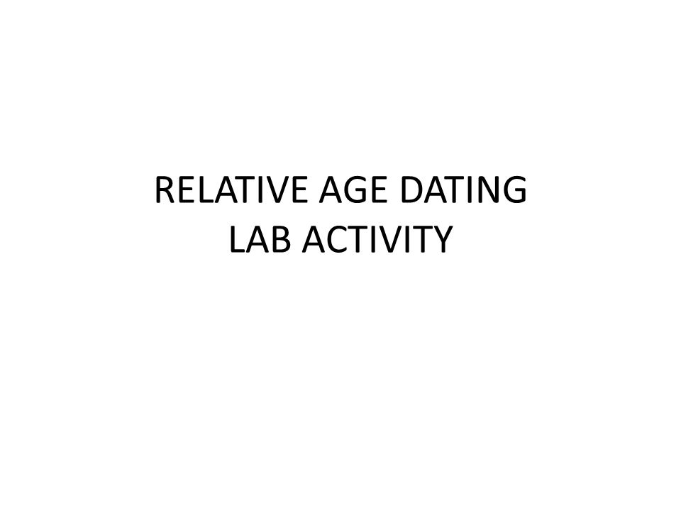 Relative age dating lab