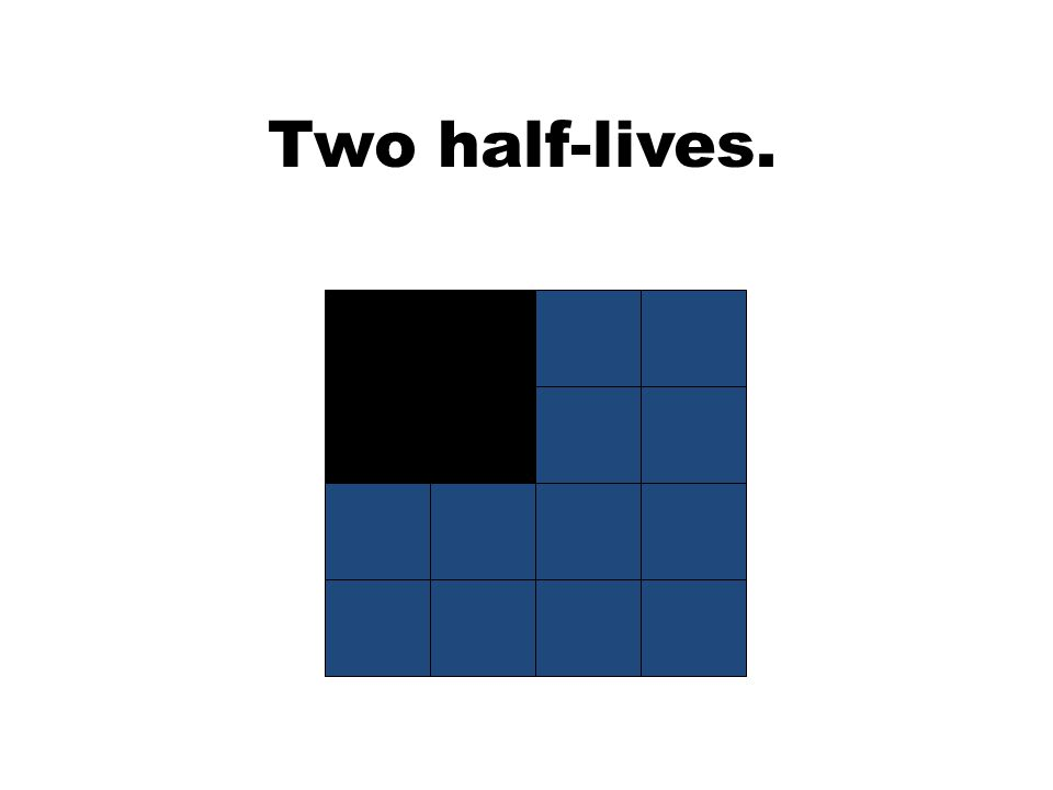 Two half-lives.