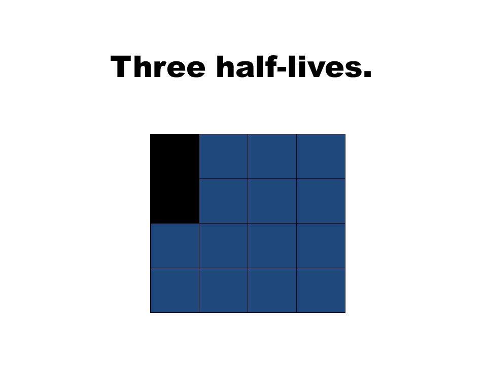 Three half-lives.