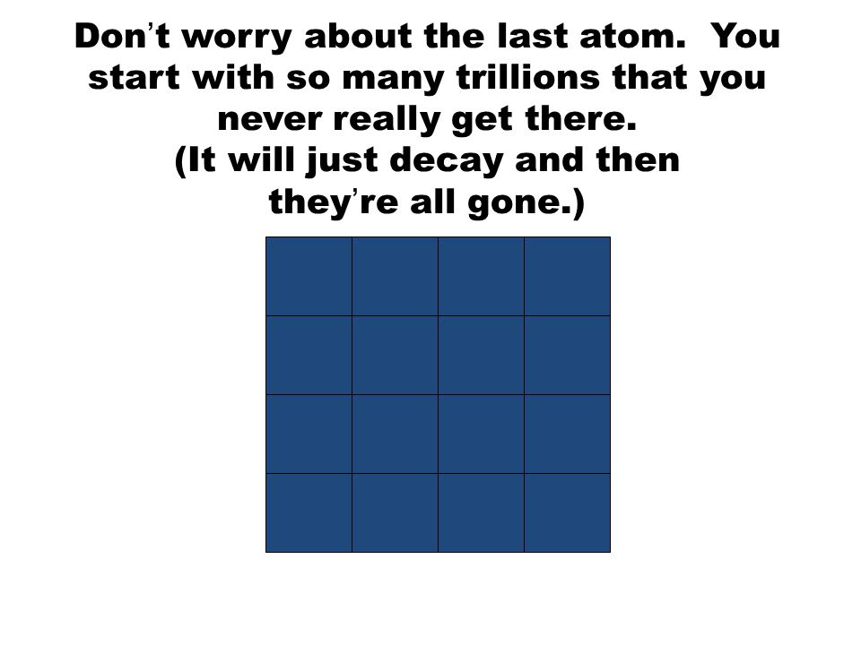 Don't worry about the last atom