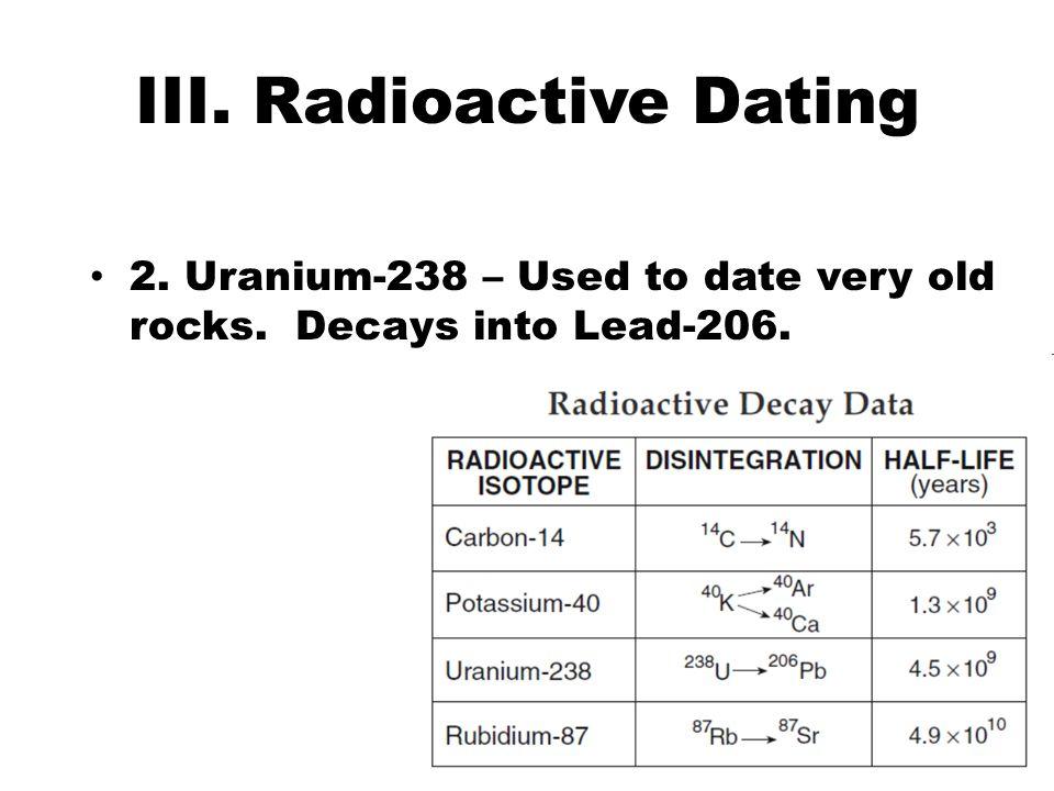 III. Radioactive Dating