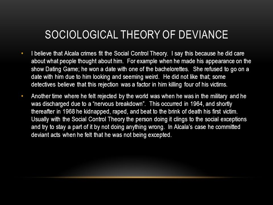 Sociological Theory of Deviance