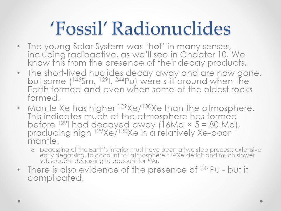 'Fossil' Radionuclides