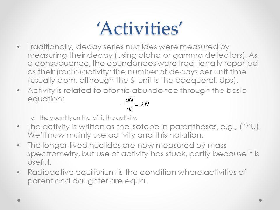 'Activities'
