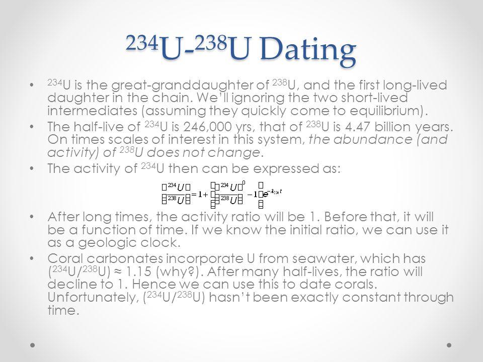 234U-238U Dating