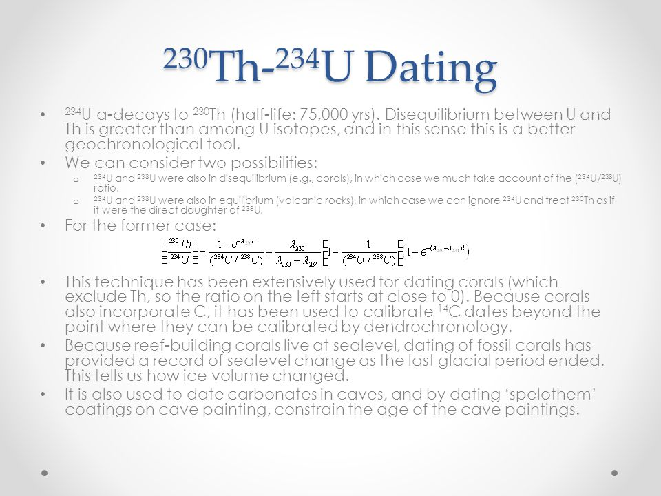 230Th-234U Dating