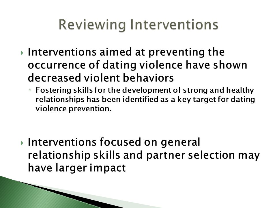 Reviewing Interventions