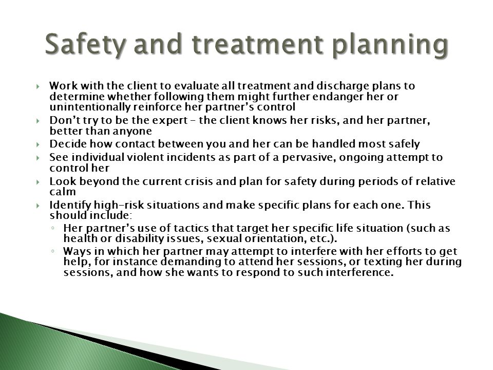 Safety and treatment planning