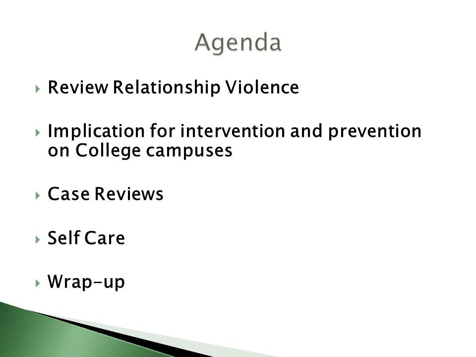 Agenda Review Relationship Violence