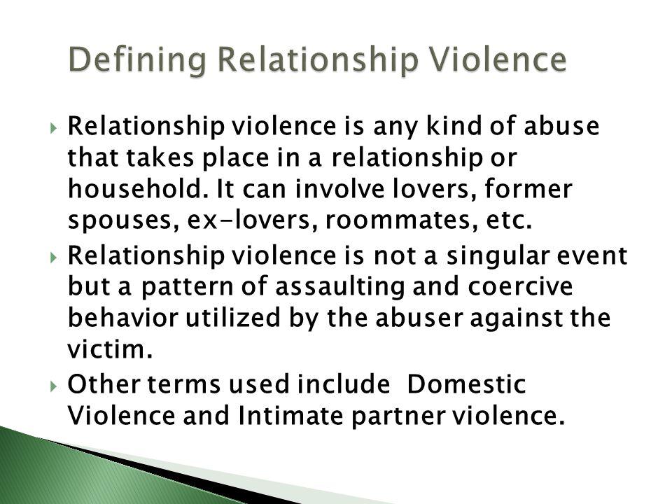 Defining Relationship Violence