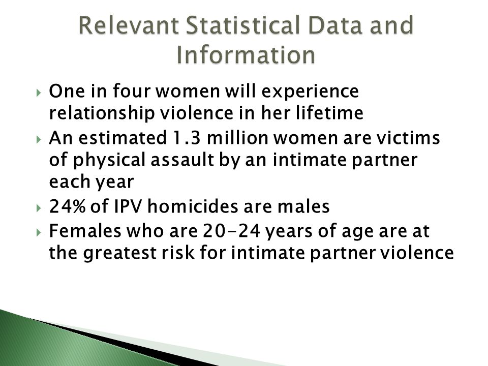 Relevant Statistical Data and Information