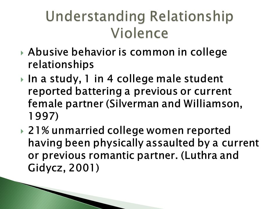 Understanding Relationship Violence