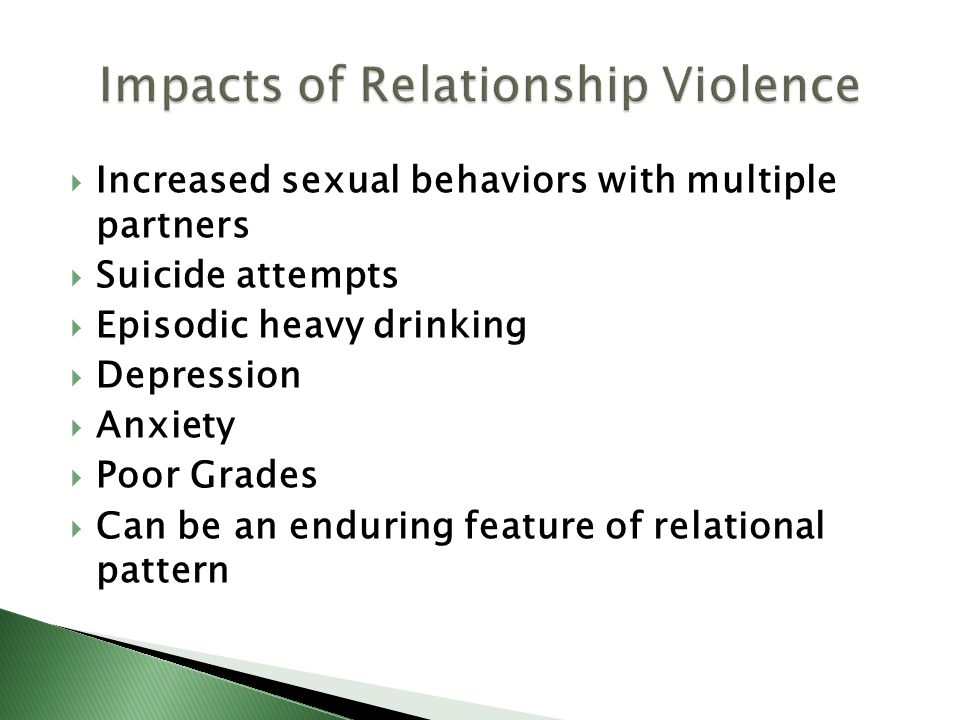 Impacts of Relationship Violence