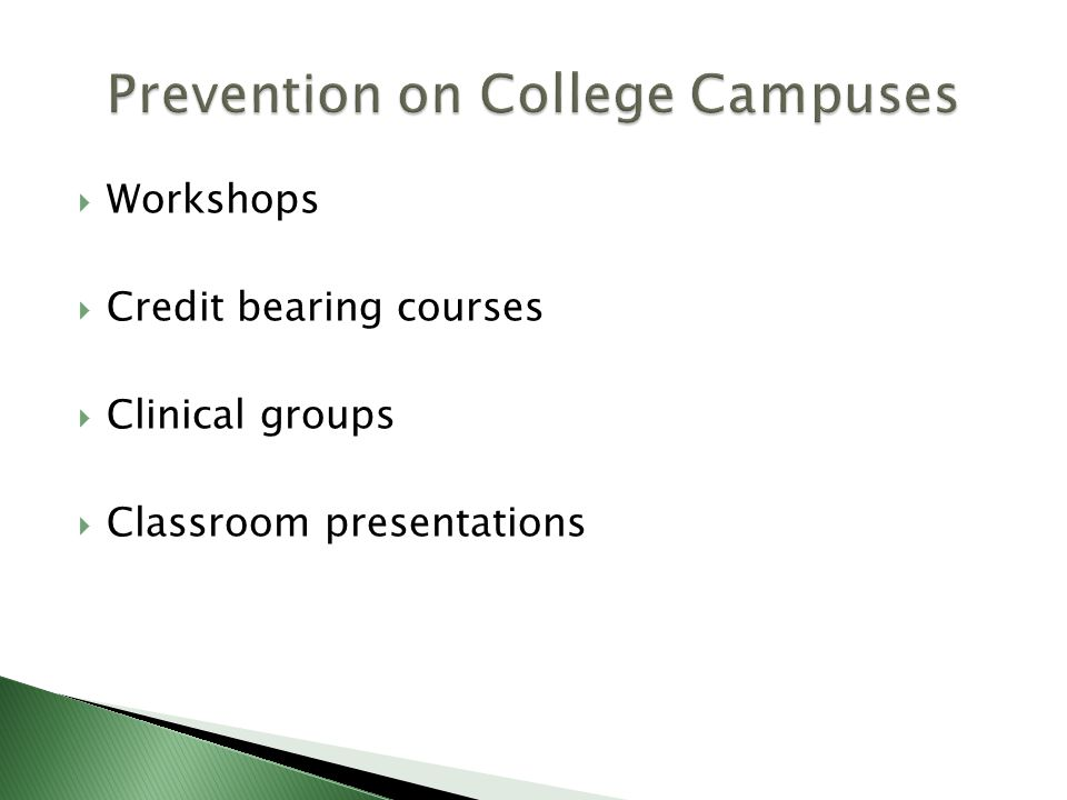 Prevention on College Campuses