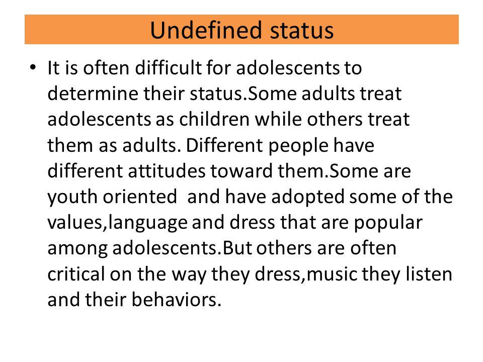 Undefined status