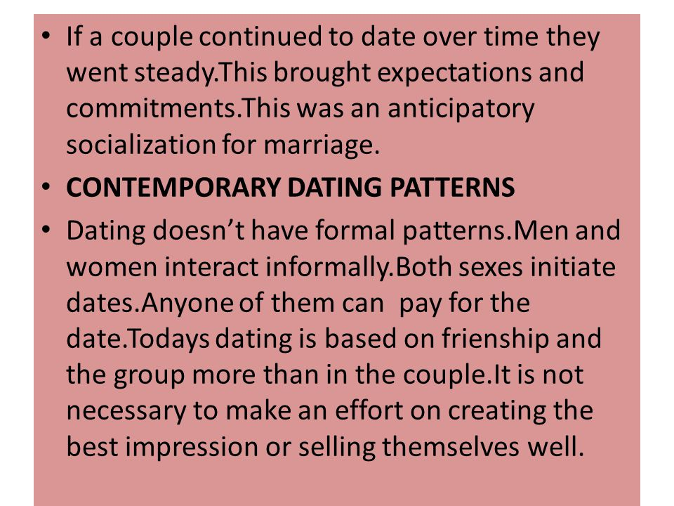 If a couple continued to date over time they went steady