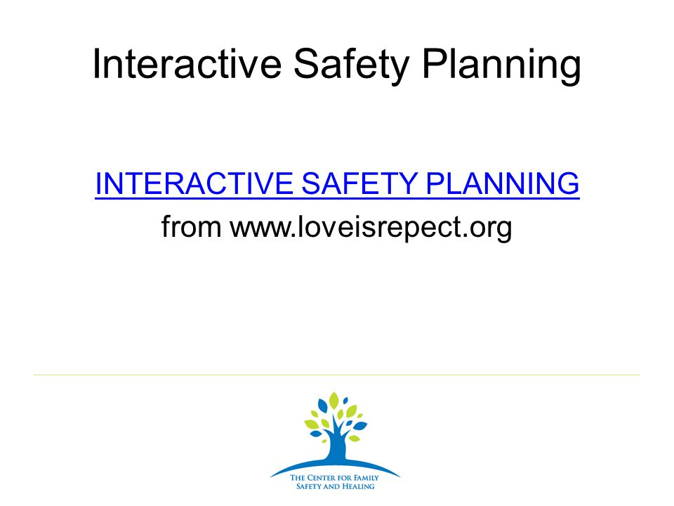 Interactive Safety Planning