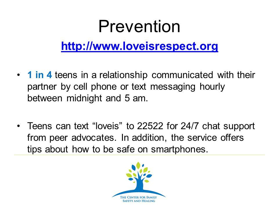 Prevention http://www.loveisrespect.org