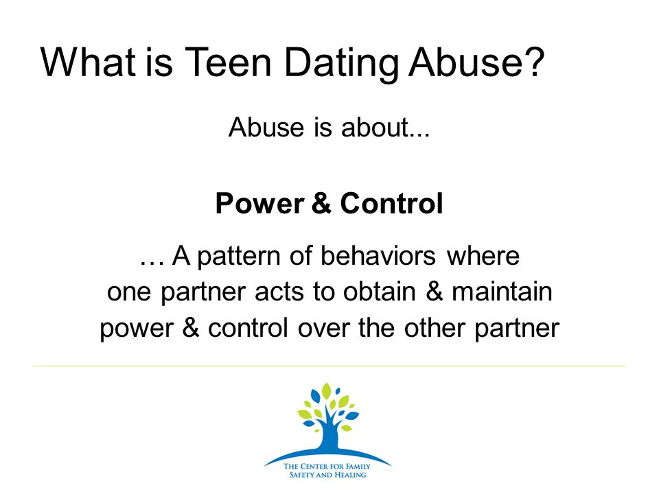 What is Teen Dating Abuse